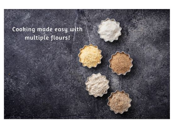 Cooking made easy with multiple flours