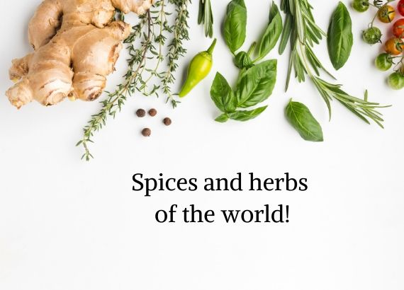 Spices and herbs  of the world
