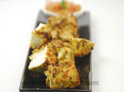 Air-fried Paneer with Curry Leaves