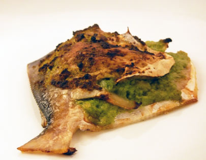 Baked Pomfret With Green Apple