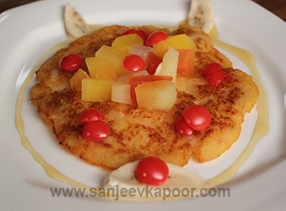Banana Pancake with Fruits