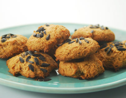 Banana Sunflower Seed Cookies