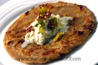 Barfi Parantha With Rose And Rabdi