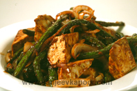 Beancurd With French Beans And Hoisin Sauce