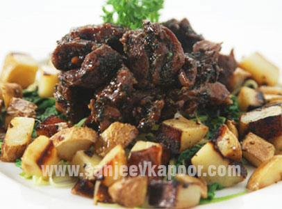 Braised Lamb With Spinach And Leeks