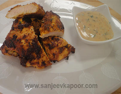 Butter Fried Chicken with Curry Mayonnaise