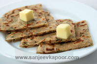 Cheese and Coriander Parantha