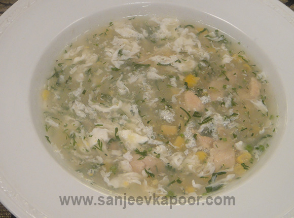 Chicken Coriander and Corn Soup