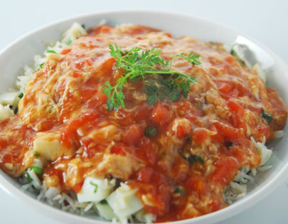 Chinese Tomato Egg Drop Rice