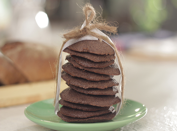 Chocolate and Bread Cookies - SK Khazana
