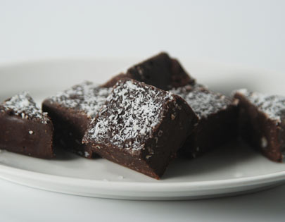 Chocolate And Coconut Fudge