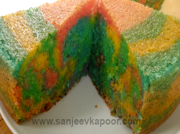 Colourful Marble Cake