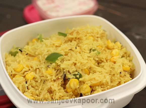 Corn and Capsicum Pulao