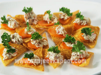 Corn Chips With Cheese Dressing