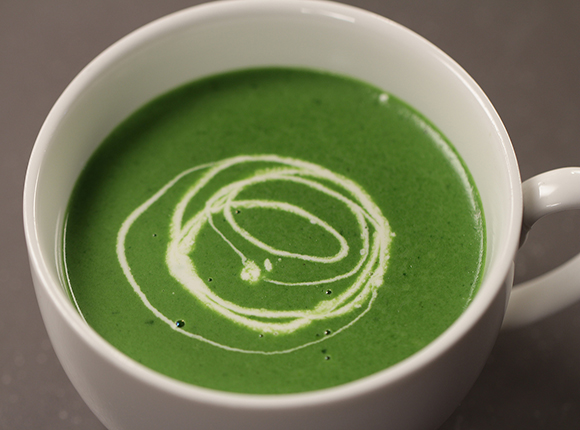 Cream of Spinach Soup-SK Khazana