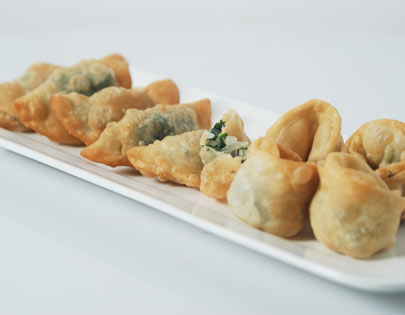 Crispy Spinach Parcels