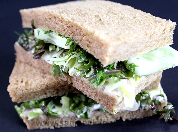 Cucumber and Dill Sandwich with Philadelphia Sprea