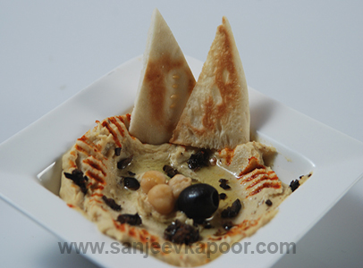Cumin And Black Olive Hummus