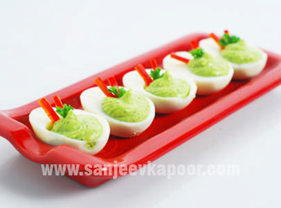 Devilled Eggs with Pesto