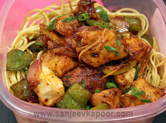 How to make dry chilli chicken recipe by masterchef sanjeev kapoor dry chilli chicken forumfinder Image collections