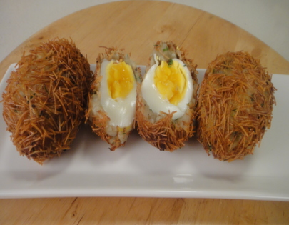 Egg Vermicelli Cutlet