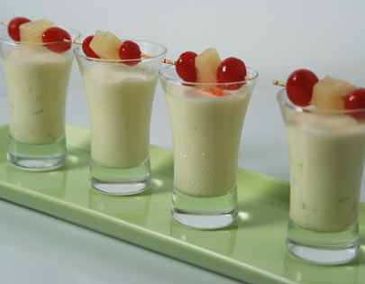 Eggless Pineapple Mousse