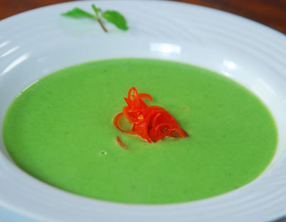 French Pea and Mint Soup
