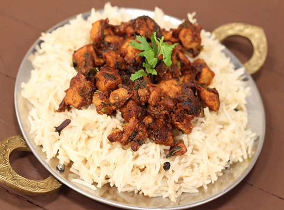 Fried Chicken and Caramelised Onion Rice - SK Khaz