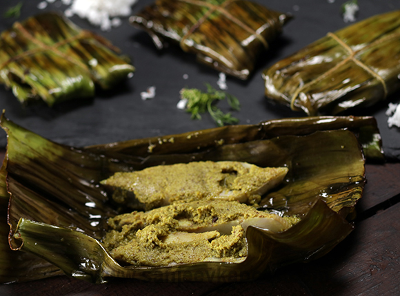 Fried Fish in Banana Leaves