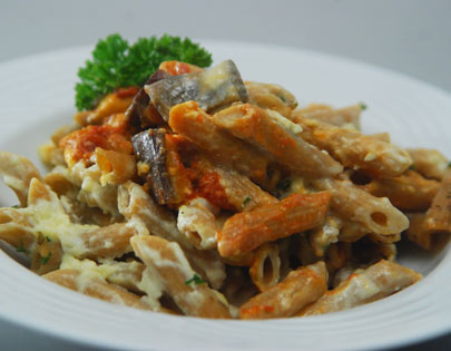 Greek Style Penne with Eggplant
