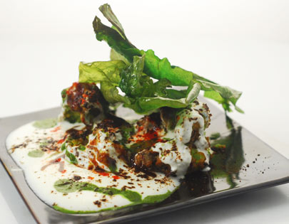 Green Pea Tikki Chaat
