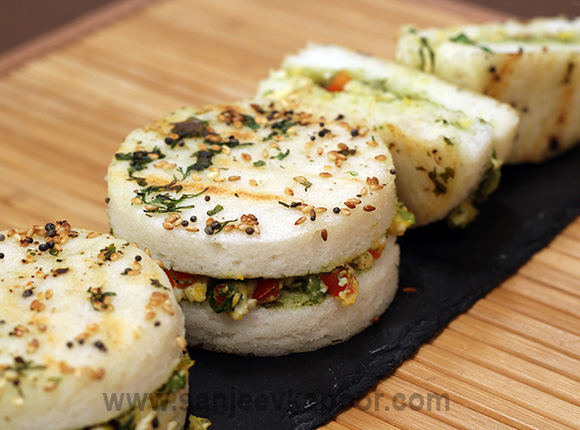Grilled Dhokla Sandwich
