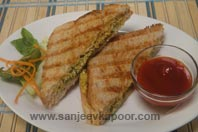 Grilled Cottage Cheese And Cabbage Sandwich