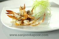 Grilled Prawns With Rice
