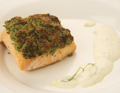 Herb Crusted Salmon with Ginger