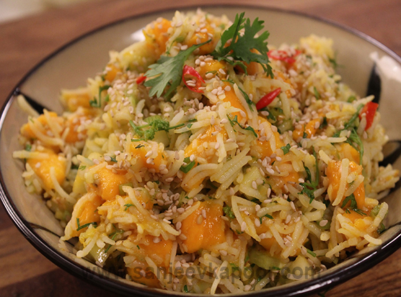 Mango, Cucumber and Rice Salad