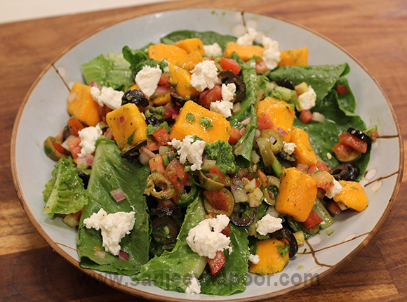 Mango and Crumbled Cheese Salad