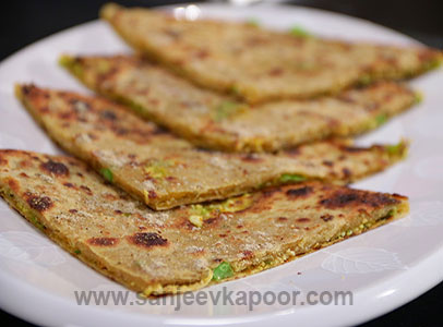 Celebrating indian street food recipes chef sanjeev kapoor matar paneer parantha forumfinder Image collections