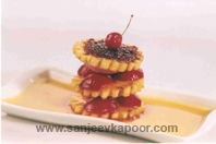 Medley Of Fruits With Peach Sauce