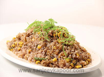 Methi Brown Poha Biryani