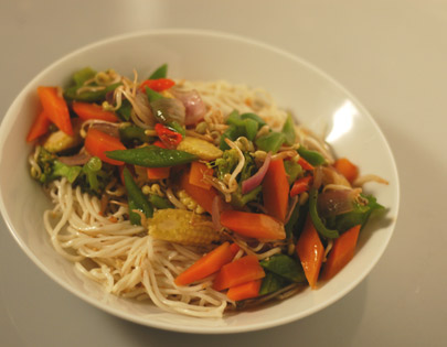 Noodles With Stir Fried Vegetables