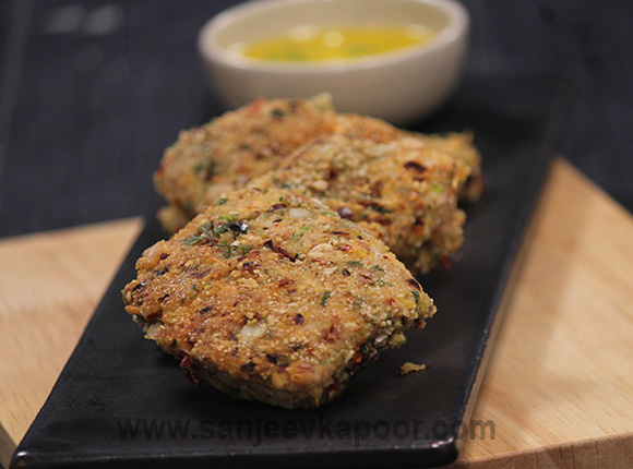 Nut Crusted Rawas with Lemon Butter Sauce