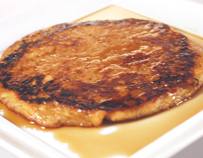 Oats Pancake With Maple Syrup