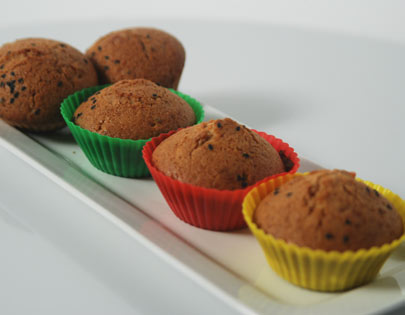 Orange Black Sesame Muffins