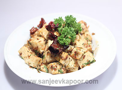Paneer in Garlic Lemon Sauce