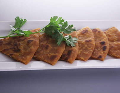 Paneer And Cheese Parantha