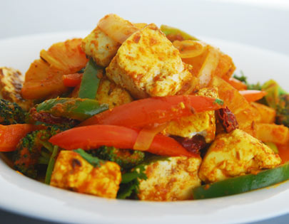 Paneer And Pineapple Stir Fry