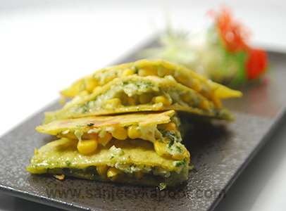 Pesto Quesadillas