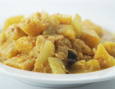 Pineapple Curry With Prawns
