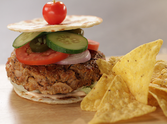 Quesadilla Chicken Burger - SK Khazana